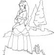 Coloriage Princesse 11