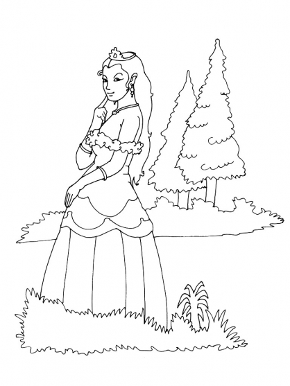 Coloriage Princesse 11
