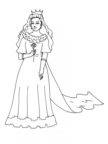 Coloriage Princesse 12