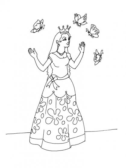 Coloriage Princesse 13