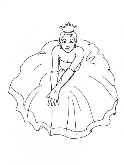Coloriage Princesse 7