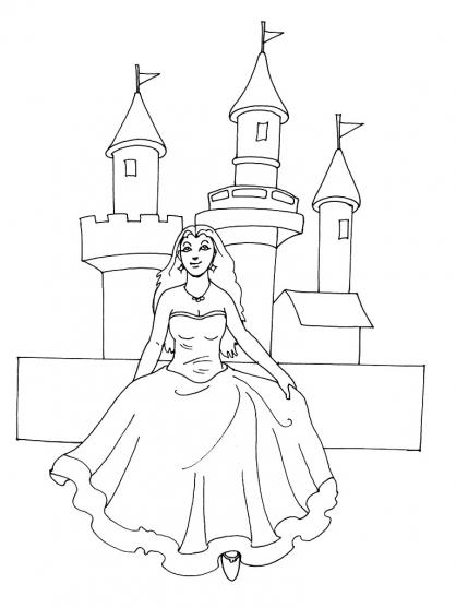 Coloriage Princesse 8