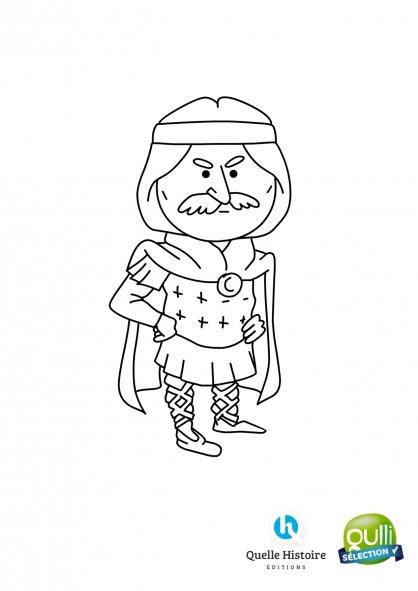 Coloriage Quelle histoire : Charlemagne 1