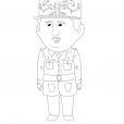 Coloriage Quelle histoire : Charles de Gaulle 1
