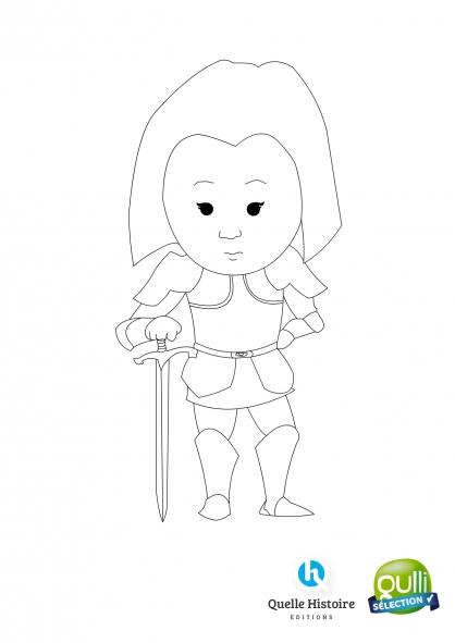 Coloriage Quelle histoire : Jeanne d'Arc 1