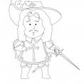 Coloriage Quelle histoire : d'Artagnan 1