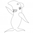 Coloriage Rich Morning Show : Esteban The Shark