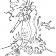 Coloriage Sirène 13