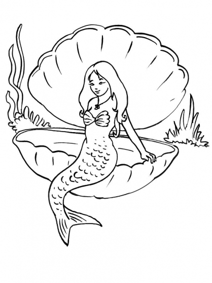 Coloriage sir ne 14 coloriage sir nes coloriage - Dessin sirene facile ...