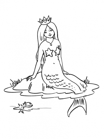 Coloriage sir ne 15 coloriage sir nes coloriage - Dessin sirene facile ...