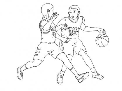 Coloriage Basket 1