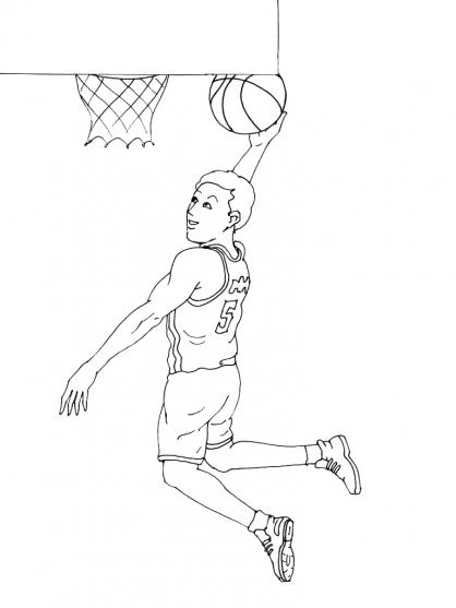 Coloriage Basket 11