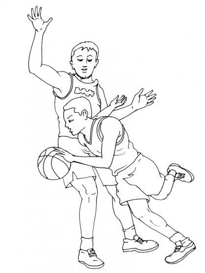 Coloriage basket 12 coloriage basket coloriage sports - Dessin basket ...