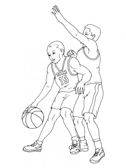 Coloriage Basket 13