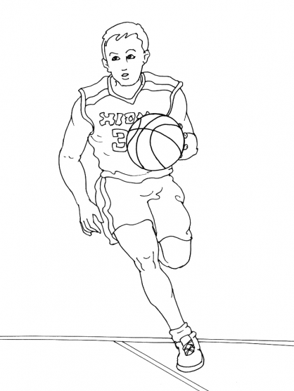 Basketball Players Free Coloring Pages