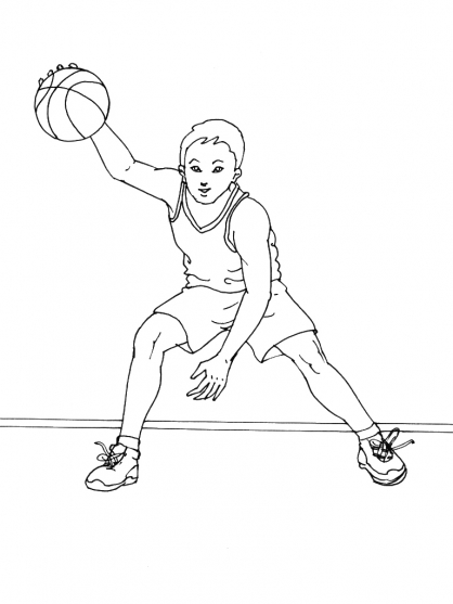 Coloriage basket 15 coloriage basket coloriage sports - Dessin basket ...