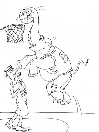 Coloriage Basket 18