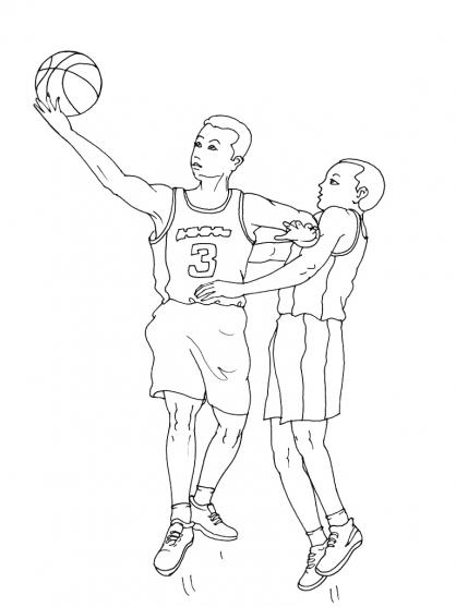 Coloriage Basket 2