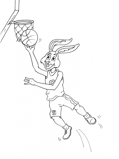 Coloriage Basket 23
