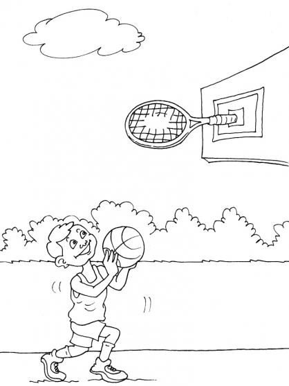 Coloriage Basket 25
