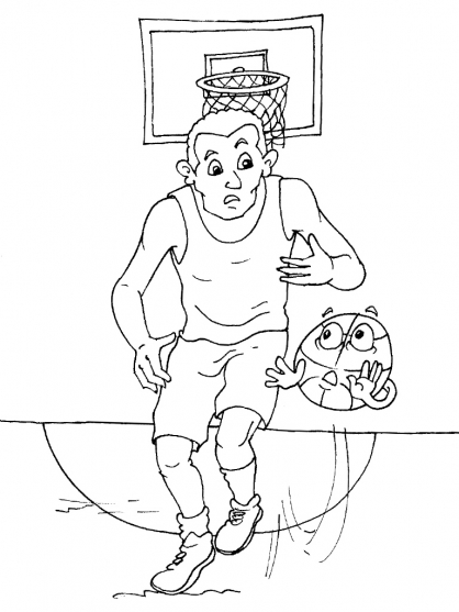 Coloriage basket 27 coloriage basket coloriage sports - Dessin basket ...
