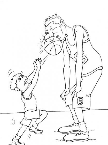 Coloriage Basket 28