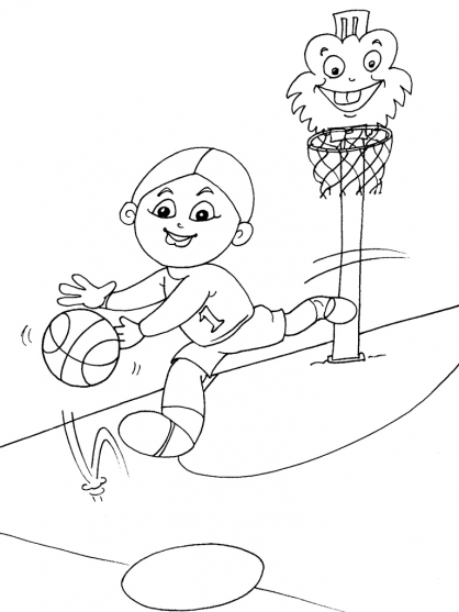 Coloriage Basket 29