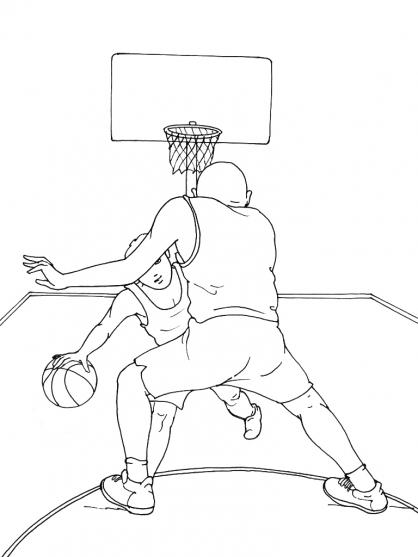 Coloriage Basket 4