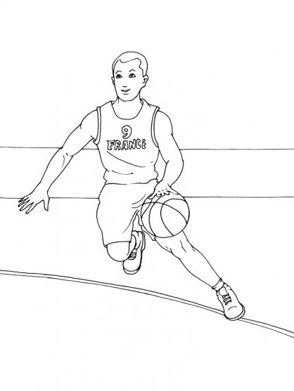Coloriage basket 6 coloriage basket coloriage sports - Dessin basket ...