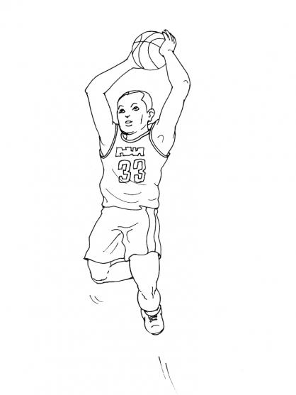 Coloriage Basket 7