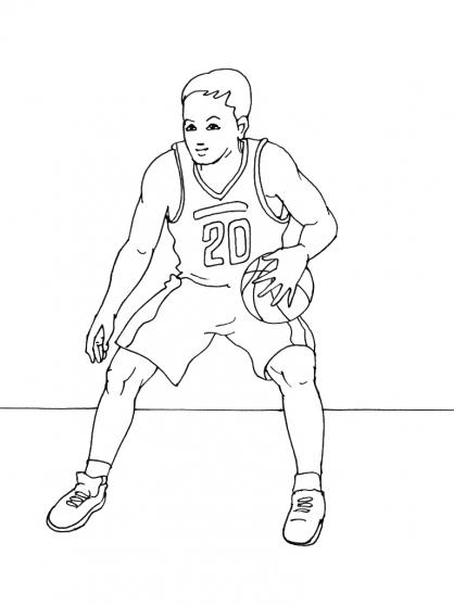 Coloriage Basket 8