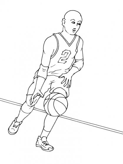 Coloriage Basket 9
