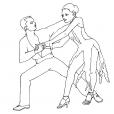 Coloriage Danse 10