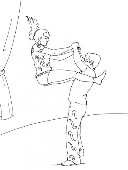 Coloriage Danse 12