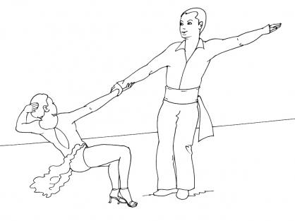 Coloriage Danse 13