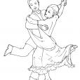 Coloriage Danse 15
