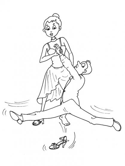 Coloriage Danse 16