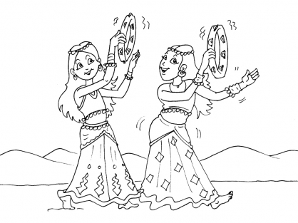 Coloriage Danse 21