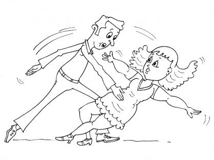Coloriage Danse 23