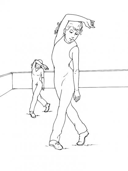 Coloriage Danse 4