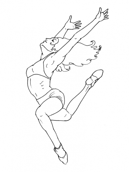 Coloriage Danse 5