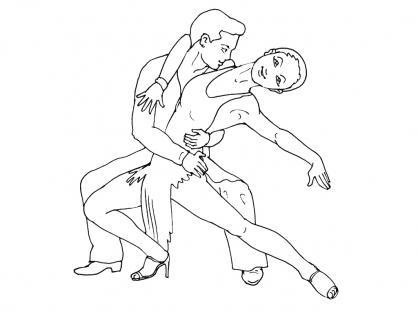 Coloriage Danse 6