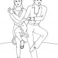 Coloriage Danse 8