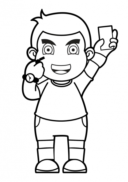 Coloriage Football 1