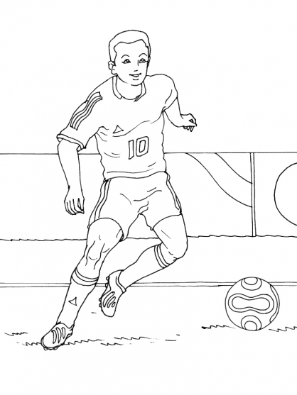 Coloriage Football 12