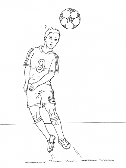 Coloriage Football 14