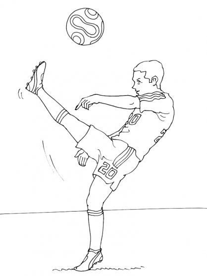 Coloriage Football 15