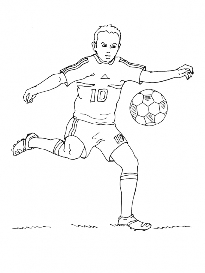 Coloriage Football 18