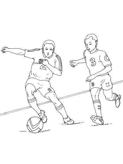 Coloriage Football 19