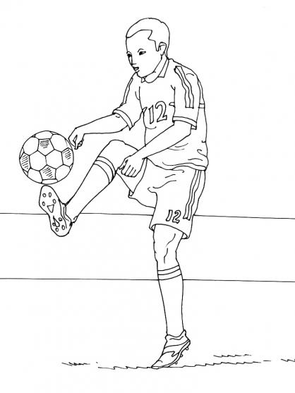 Coloriage Football 23